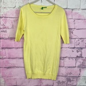 United Colors of Benetton yellow sweater XS